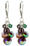 Pistachio Cluster Earrings