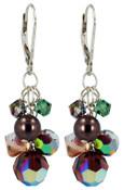 Pistachio Cluster Earrings
