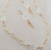 Polygon Chain Necklace & Earrings