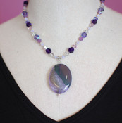 Purple Velvet Necklace
