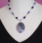 Purple Velvet Necklace