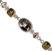 Pyrite &amp; Swarovski Crystal Bracelet