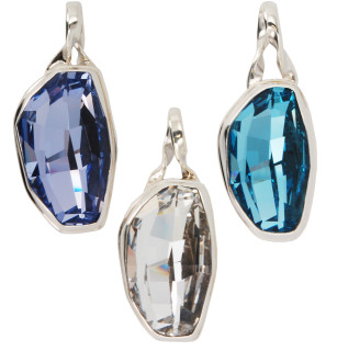 Swarovski Calypso Gemstone Pendant in (left to right): Provence Lavender, Crystal (Clear), Aquamarine