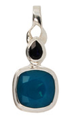 Swarovski Caribbean Blue Opal & Indigo Pendant