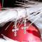 Swarovski Crystal Cross Earrings in Sterling Silver
