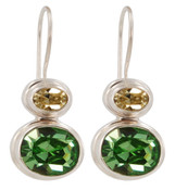 Swarovski Peridot & Jonquil Earrings