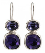 Swarovski Purple Velvet & Tanzanite Earring