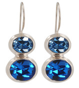 Swarovski Sapphire & Light Sapphire Earrings