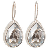 Swarovski Silver Shade Pear Earrings