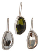 Swarovski Small Calypso Earrings (left to right) in Crystal (Clear), Olivine, Golden Shadow