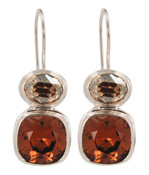 Swarovski Smoked Topaz & Golden Shadow Earrings