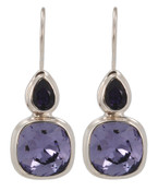 Swarovski Tanzanite & Purple Velvet Earrings