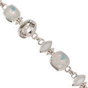 Swarovski White Opal &amp; White Alabaster Crystal Bracelet