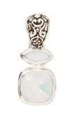 Swarovski White Opal &amp; White Alabaster Pendant