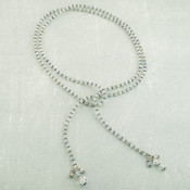 Crystal Lariat in Sterling Silver Crystal (Clear)