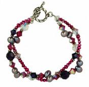 Purple Rain Double Bracelet