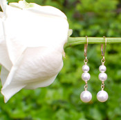Pearl Dangle Earrings in 18k Gold Vermeil