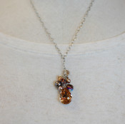 Browns Teardrop Cluster Necklace