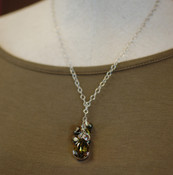 Khaki Teardrop Cluster Necklace