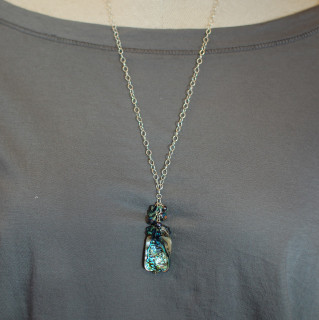 Abalone Cluster Necklace