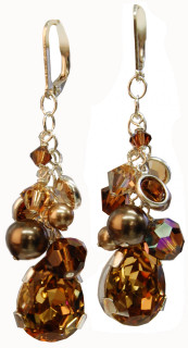 Browns Teardrop Earrings