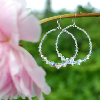 Infinity Earrings in Sterling Silver Crystal (Clear)