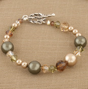 Eclectic Bracelet shown in Sterling Silver Olive.