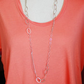 Silver EC Necklace