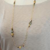 Pyrite Long Necklace
