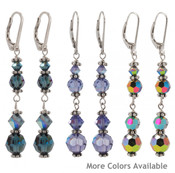 Crystal Dangles in (left to right) Montana, Tanzanite &amp; VM Sterling Silver