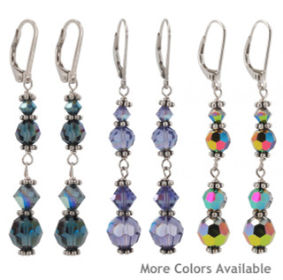 Crystal Dangles in (left to right) Montana, Tanzanite & VM Sterling Silver