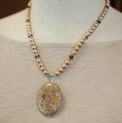 Almond Roca Necklace in Sterling Silver