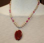 Raspberry Mocha Necklace