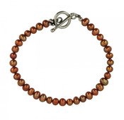 Bronze Pearl Bracelet