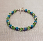 Peridot &amp; Turquoise Crystal Bracelet