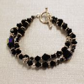Black Eclectic Double Bracelet