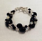 Onyx Crystal Double Bracelet