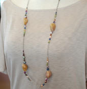 Caramel Agate Long Necklace