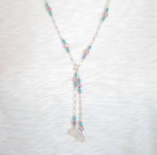 Chalcedony &amp; Crystal Lariat