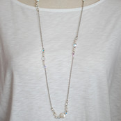 Pearl & Clear Long Necklace