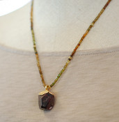 Tourmaline & Garnet Necklace