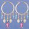 Crystal Hoop Earrings in 18k Gold Vermeil Pastel