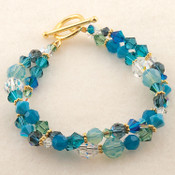Navette Double Bracelet shown in Ocean