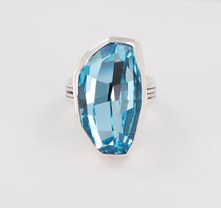 Swarovski Calypso Gemstone Ring in Aquamarine