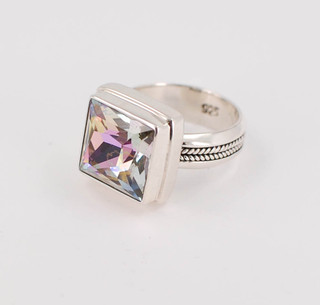 Swarovski Vitrail Light Square Cut Ring