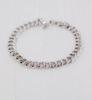 Parallel Curb Chain Charm Bracelet