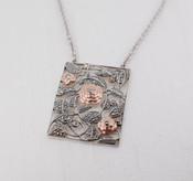 Two-Tone Floral Pendant Necklace