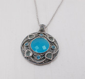 Chalcedony Medallion Necklace