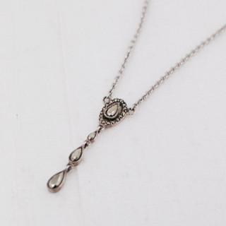 Marcasite Drop Necklace