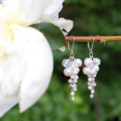 Petite Couture Cluster Earrings in Sterling Silver